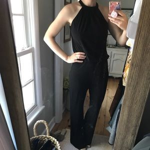 Very fun and chic black jumpsuit!